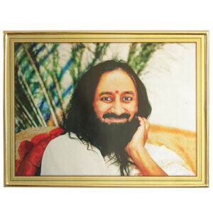 sri sri ravi shankarji gold plated plastic photo frame online