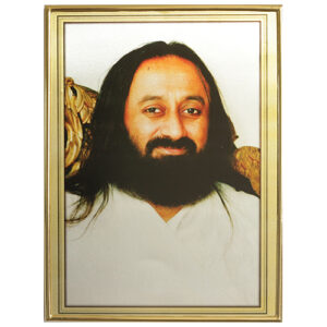 sri sri ravi shankarji gold plated plastic photo frame online